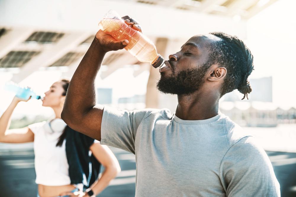 athlète boire